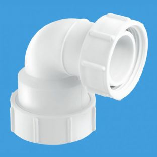 "S5M-A 1 1/4"" 95º Bend Multifit x BSP Coupling nut. McAlpine"
